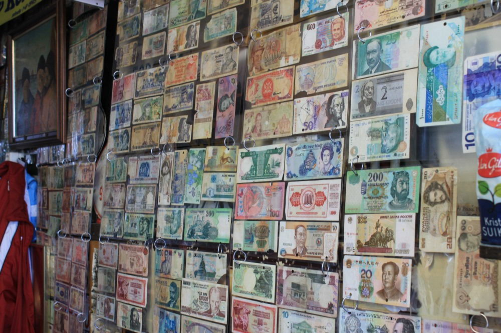 Their collection of bills around the world